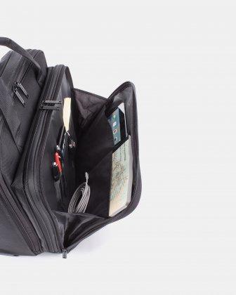 Purpose – Business Case on Wheels with RFID protection - Black - Swiss Mobility
