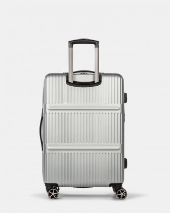 Highway – Lightweight Hardside 3-Piece Luggage Set with double spinner wheels (8 wheels) - Silver Swiss Mobility