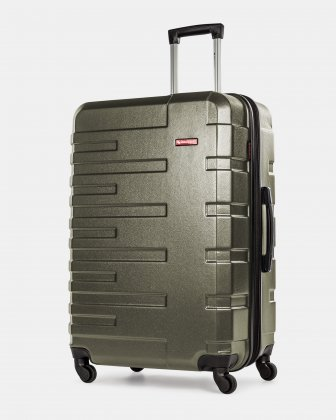 Quad  - Lightweight Hardside Luggage 28'' with Spinner wheels - Olive  - Swiss Mobility