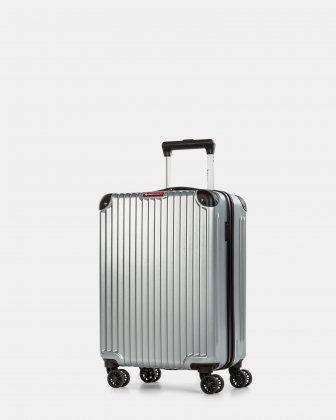 Ember - Lightweight Hardside Carry-on with double spinner wheels (8 wheels) - Silver - Swiss Mobility