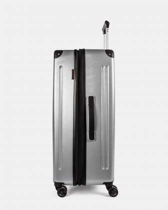 Ember - Lightweight Hardside Luggage 28'' with double spinner wheels (8 wheels) - Silver - Swiss Mobility