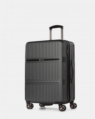 Highway – Lightweight Hardside 3-Piece Luggage Set with double spinner wheels (8 wheels) - Charcoal - Swiss Mobility