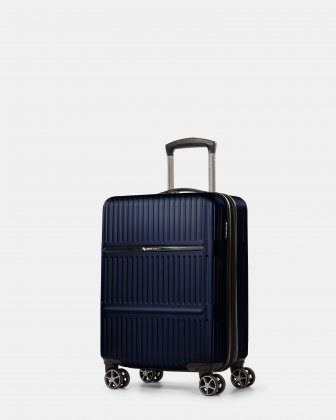 Highway - Lightweight Hardside Carry-on with double spinner wheels (8 wheels) - Blue Swiss Mobility