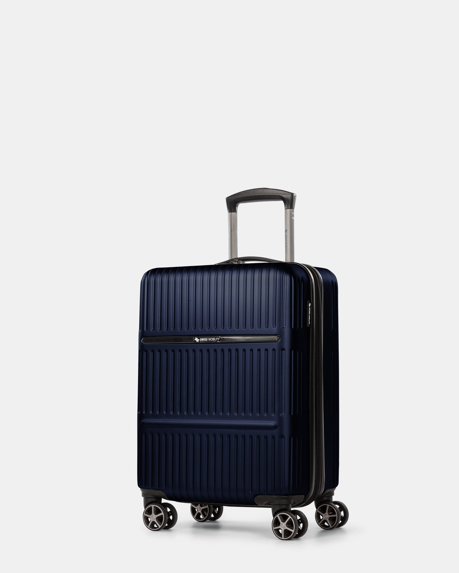 Highway - Lightweight Hardside Carry-on with double spinner wheels (8 wheels) - Blue - Swiss Mobility - Zoom
