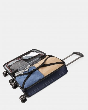 Highway - Lightweight Hardside Carry-on with double spinner wheels (8 wheels) - Blue - Swiss Mobility
