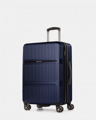 Highway – Lightweight Hardside 3-Piece Luggage Set with double spinner wheels (8 wheels) - Blue - Swiss Mobility