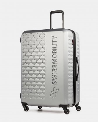 Ridge -Lightweight Hardside Luggage 28'' with Spinner wheels - Silver Swiss Mobility