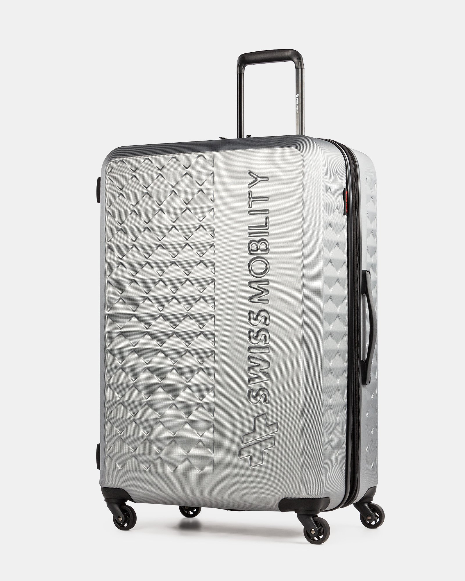 Ridge -Lightweight Hardside Luggage 28'' with Spinner wheels - Silver - Swiss Mobility - Zoom