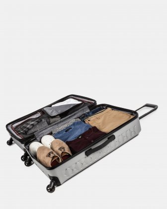 Ridge -Lightweight Hardside Luggage 28'' with Spinner wheels - Silver - Swiss Mobility
