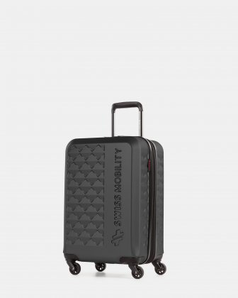 Ridge - Lightweight Hardside Carry-on with Spinner wheels - Black  Swiss Mobility