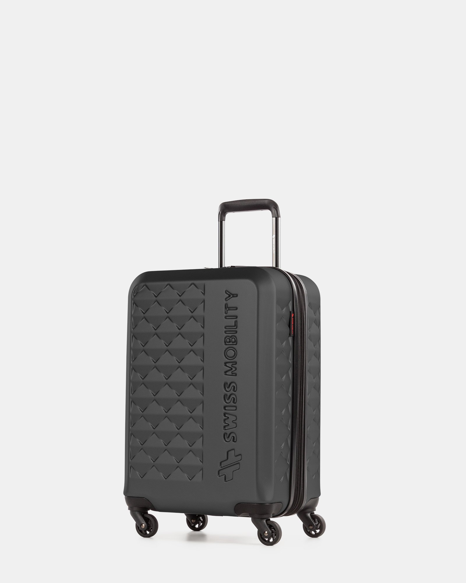 Ridge - Lightweight Hardside Carry-on with Spinner wheels - Black  - Swiss Mobility - Zoom