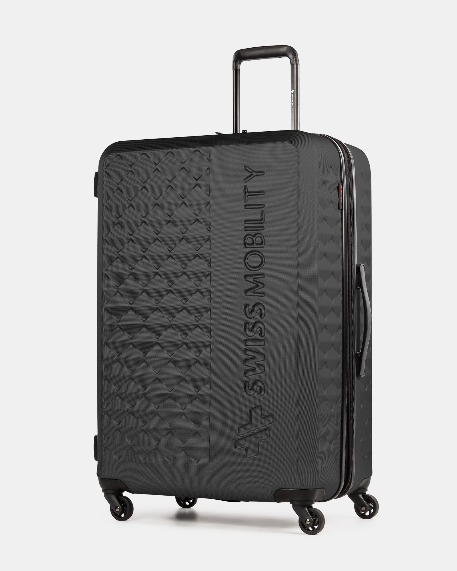 Ridge - Lightweight Hardside Luggage 28'' with Spinner wheels - Black - Swiss Mobility - Zoom
