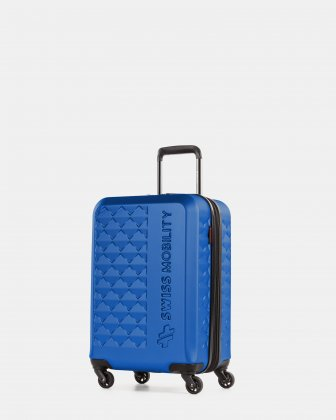 Ridge - Lightweight Hardside Carry-on with Spinner wheels - Blue Swiss Mobility