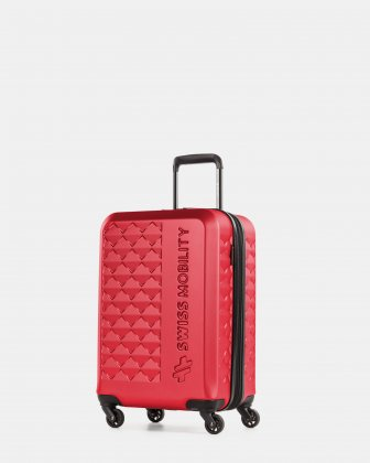 Ridge - Lightweight Hardside Carry-on with Spinner wheels - Red Swiss Mobility