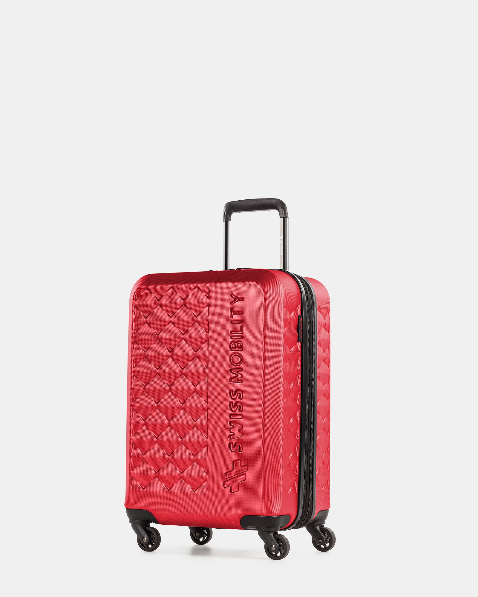Ridge - Lightweight Hardside Carry-on with Spinner wheels - Red - Swiss Mobility - Zoom