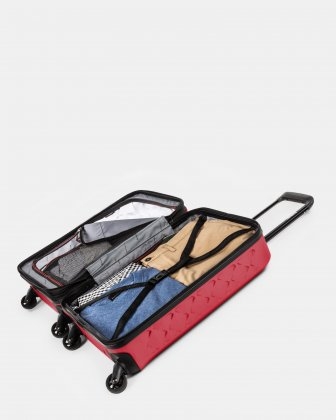 Ridge - Lightweight Hardside Carry-on with Spinner wheels - Red - Swiss Mobility