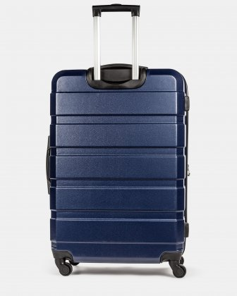 Quad - Lightweight Hardside Luggage 28'' with Spinner wheels - Blue Swiss Mobility