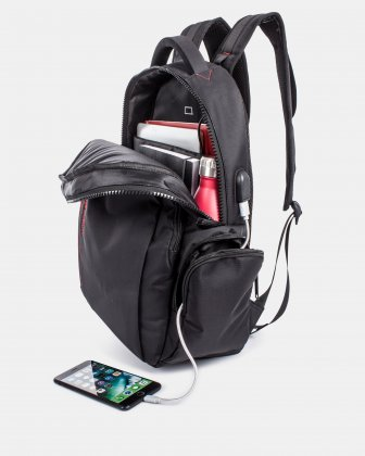 "SWISS MOBILITY  - 15.6"" Computer Backpack with RFID and USB PORT - black Swiss Mobility"