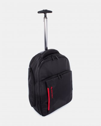 "Stride – Business backpack on wheels for 15.6"" laptop & RFID protection - Black Swiss Mobility"