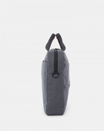 """Elevate – Soft Briefcase for 15.6"""" Laptop with Adjustable and removable shoulder strap - Grey    - Swiss Mobility"""