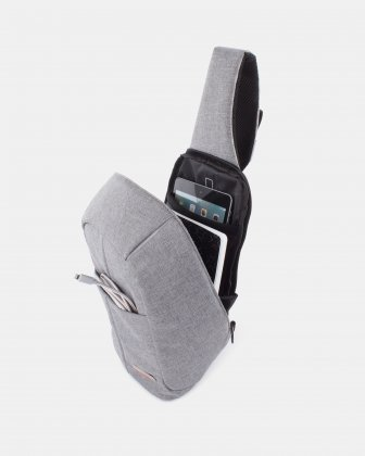 Sterling – Tablet Sling bag with Adjustable shoulder strap - Grey Swiss Mobility
