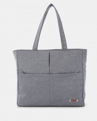 "STERLING - Tote bag for 15.6"" computer with RFID protection - Grey Swiss Mobility"