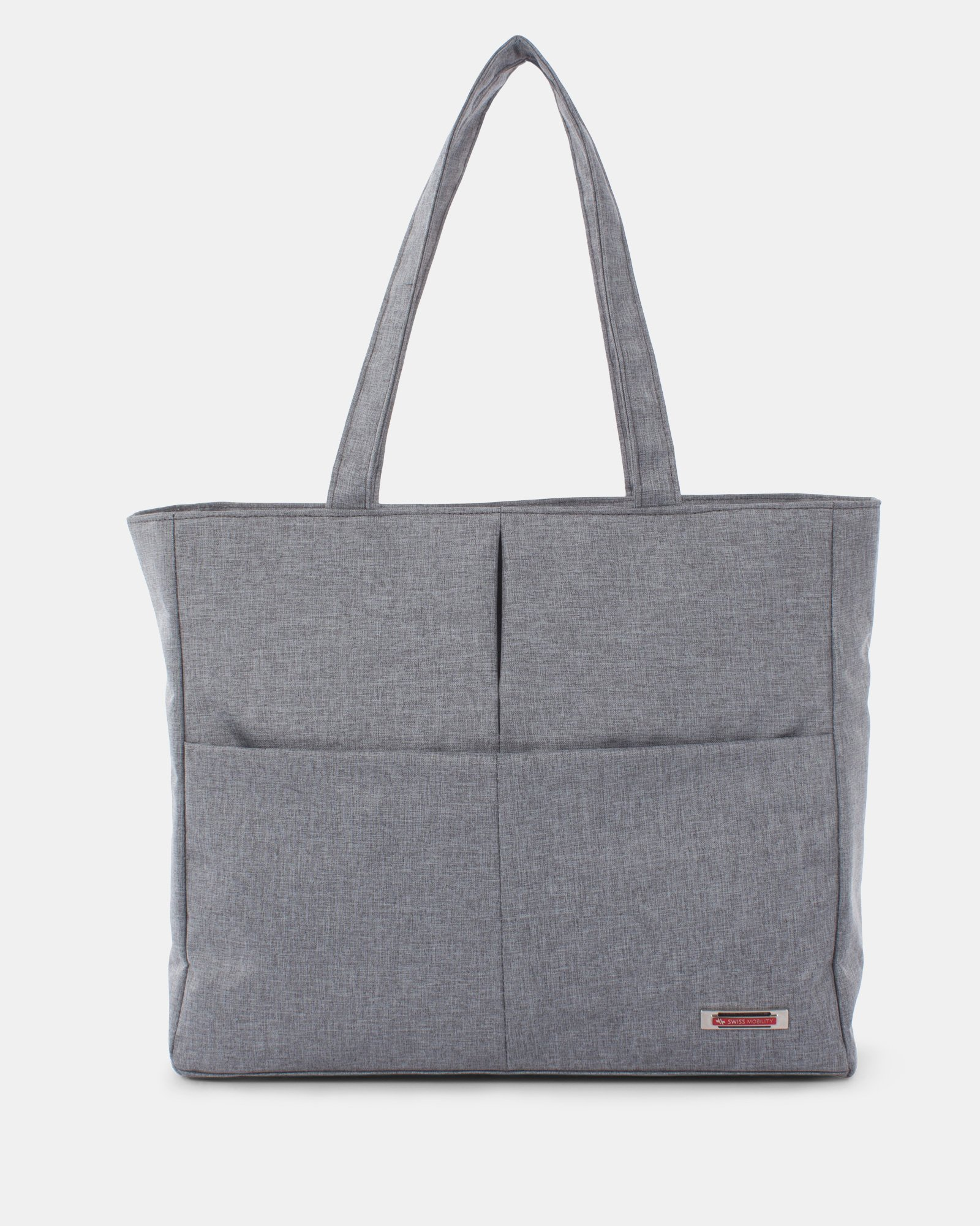"STERLING - Tote bag for 15.6"" computer with RFID protection - Grey - Swiss Mobility - Zoom"