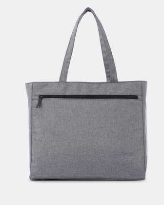 "STERLING - Tote bag for 15.6"" computer with RFID protection - Grey - Swiss Mobility"