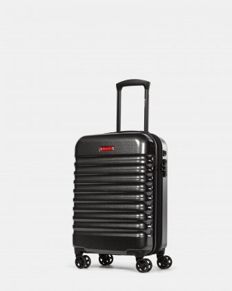 Stratus – Hardside Carry-On Luggage with TSA lock & Integrated USB port - Charcoal Swiss Mobility