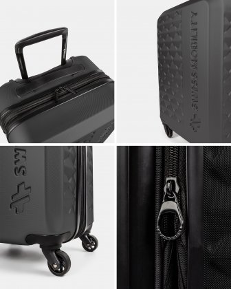 Ridge - Lightweight Hardside Carry-on with Spinner wheels - Black  - Swiss Mobility