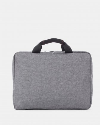 """Sterling - Slim Soft Briefcase for 15.6"""" laptop & Tablet - Grey   - Swiss Mobility"""