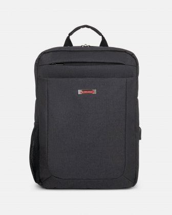 CADENCE - 15.6 in computer Backpack with USB port - Charcoal Swiss Mobility