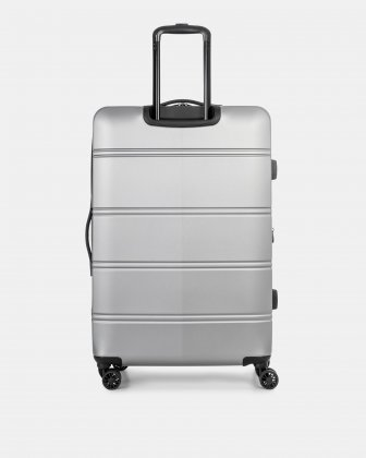 "LAX - 30"" LIGHTWEIGHT HARDSIDE LUGGAGE - Silver - Swiss Mobility"