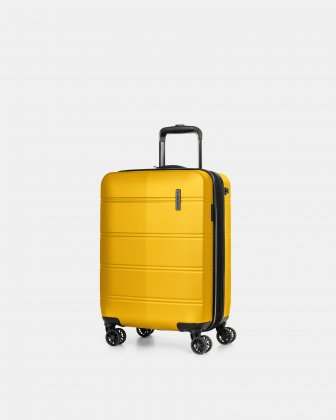 "LAX - 21.5"" HARDSIDE CARRY-ON WITH integrated USB port - YELLOW Swiss Mobility"