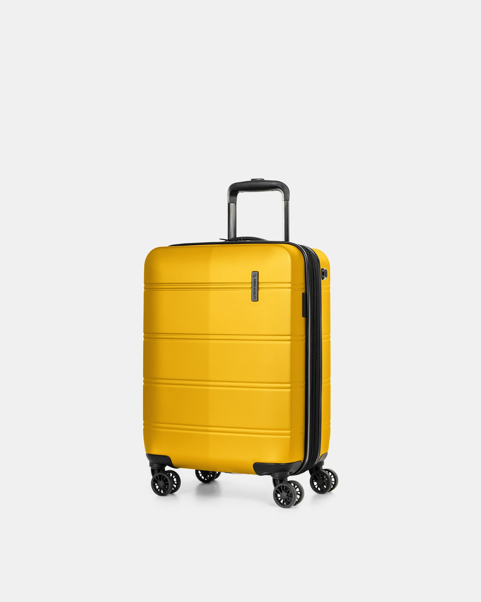 """LAX - 21.5"""" HARDSIDE CARRY-ON WITH integrated USB port - YELLOW - Swiss Mobility - Zoom"""