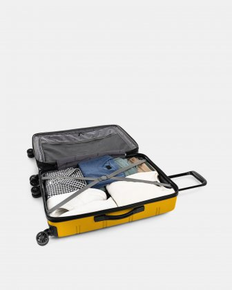 "LAX - 26"" LIGHTWEIGHT HARDSIDE LUGGAGE - YELLOW - Swiss Mobility"