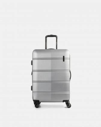 "LAX - 26"" LIGHTWEIGHT HARDSIDE LUGGAGE - SILVER - Swiss Mobility"