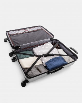 "PVG - 30"" LIGHTWEIGHT HARDSIDE LUGGAGE - SILVER Swiss Mobility"