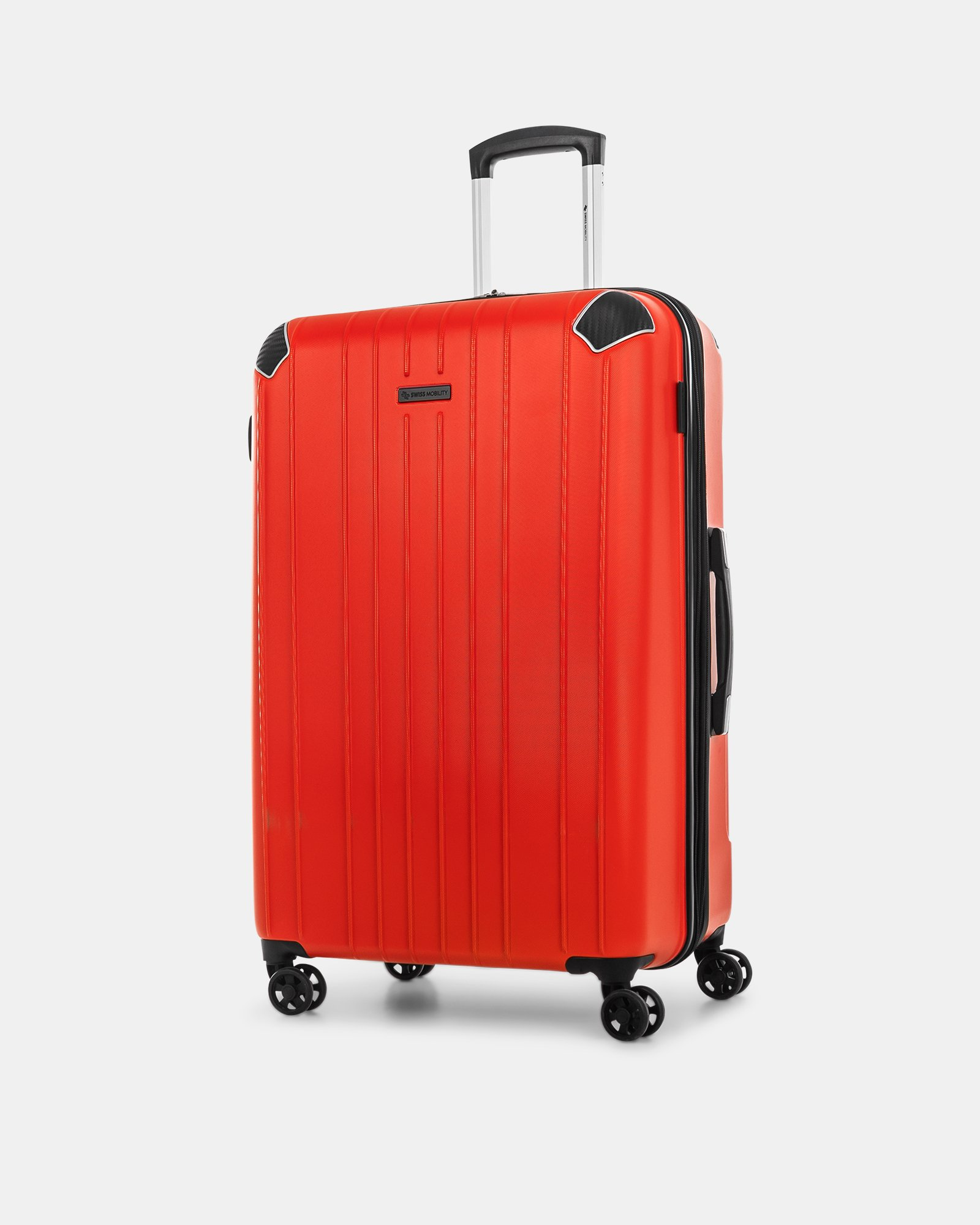 """PVG - 30"""" LIGHTWEIGHT HARDSIDE LUGGAGE - RED - Swiss Mobility - Zoom"""
