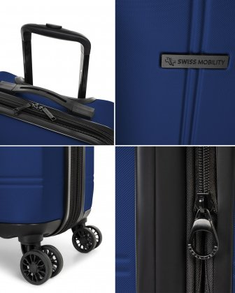 LAX – 3 PIECES SET LIGHTWEIGHT HARDSIDE LUGGAGE - BLUE Swiss Mobility