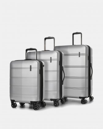 LAX – 3 PIECES SET LIGHTWEIGHT HARDSIDE LUGGAGE - SILVER Swiss Mobility