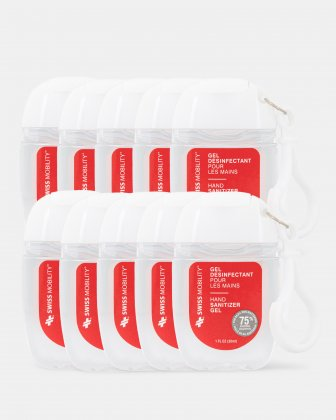 SWISS MOBILITY- Pack OF 10 BOTTLES OF 30 ML HAND SANITIZER GEL Swiss Mobility