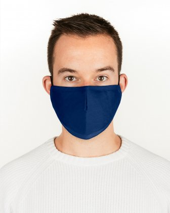 SWISS MOBILITY - 2 WASHABLE MASKS (3 PLY) + 2 (PM2.5) FILTERS ADULT SIZE - ROYAL/BLUE Swiss Mobility