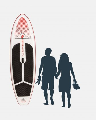 SWISS MOBILITY - 10 FEET INFLATABLE STAND-UP PADDLE BOARD (7-Piece set) - RED DOTS - Swiss Mobility